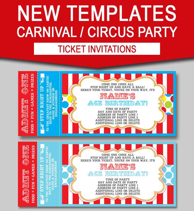 Carnival Party Invitation Template