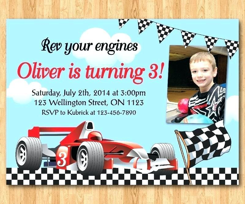 Cars Themed Birthday Invitation Template