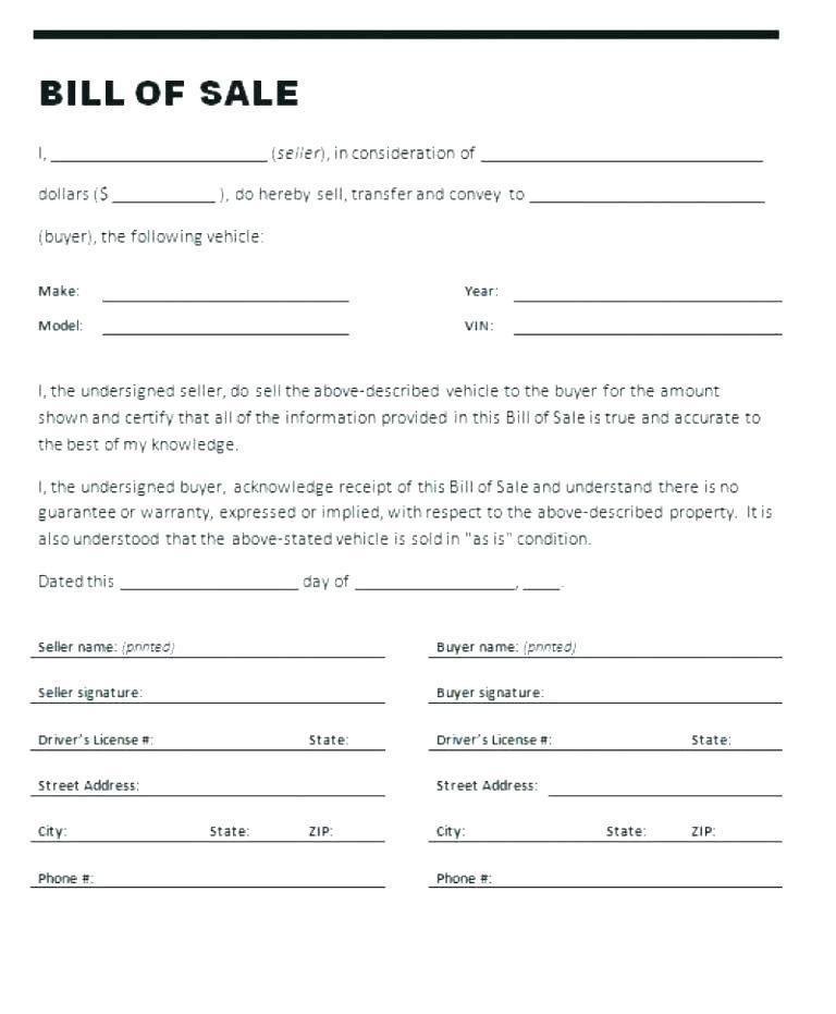 Cash Receipt Form For Car Sale