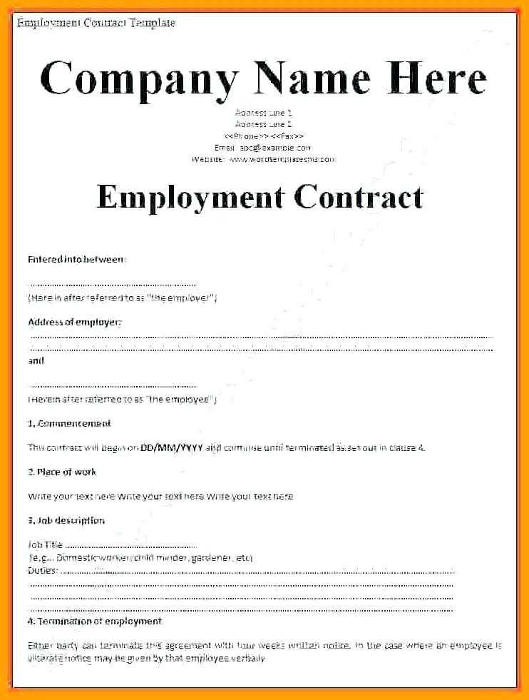 Casual Employment Contract Template Nz