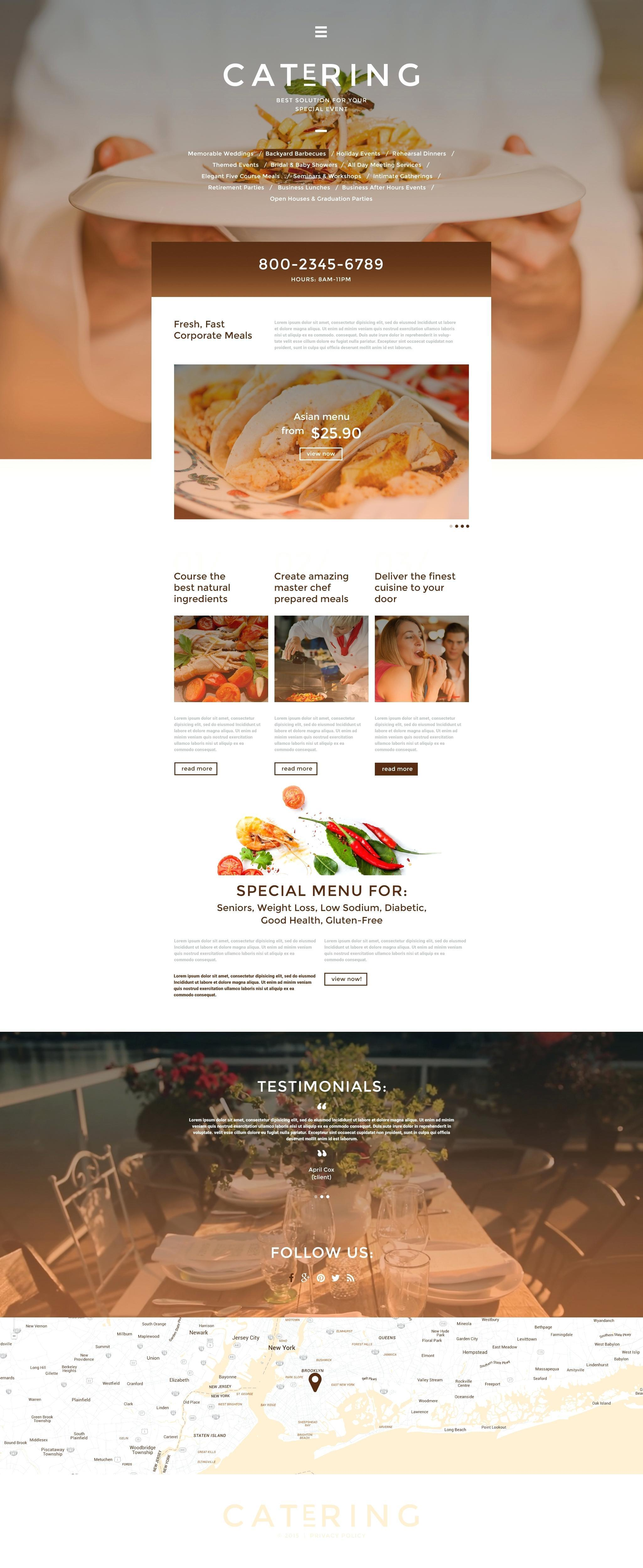 Catering Responsive Website Templates Free Download