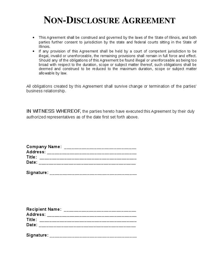 Cda Agreement Template