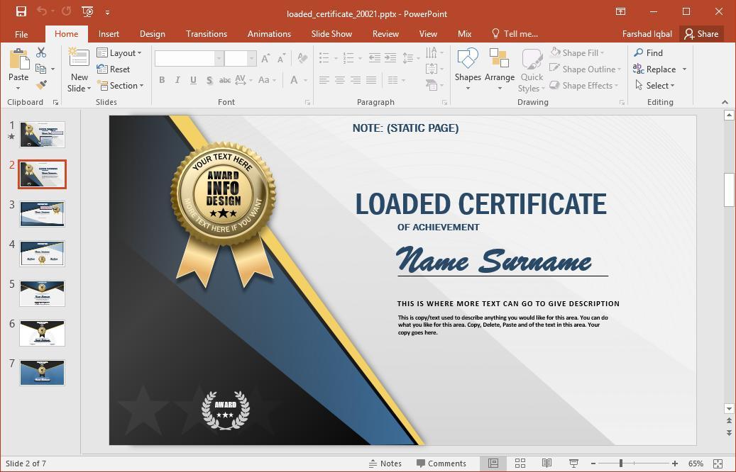 Certificate Design Template Software
