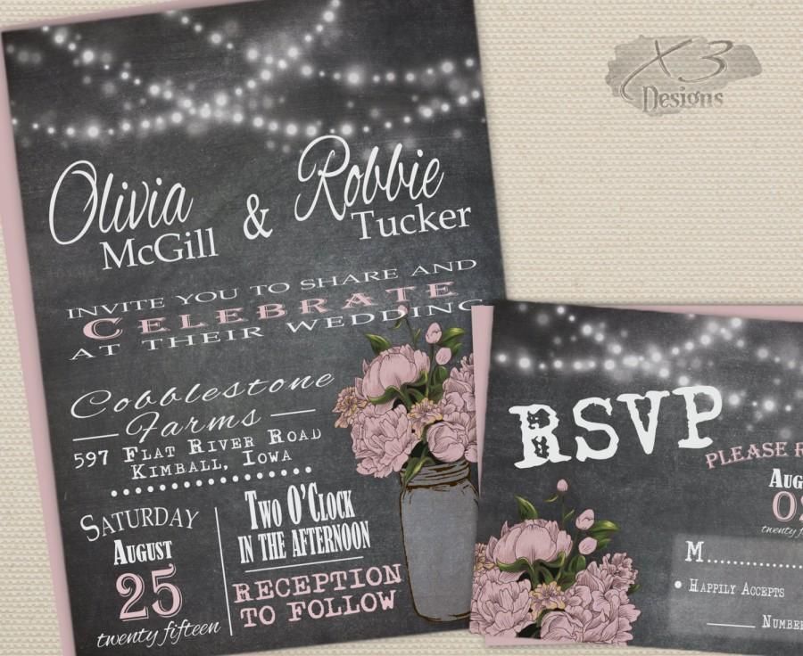 Chalkboard Wedding Invitation Template