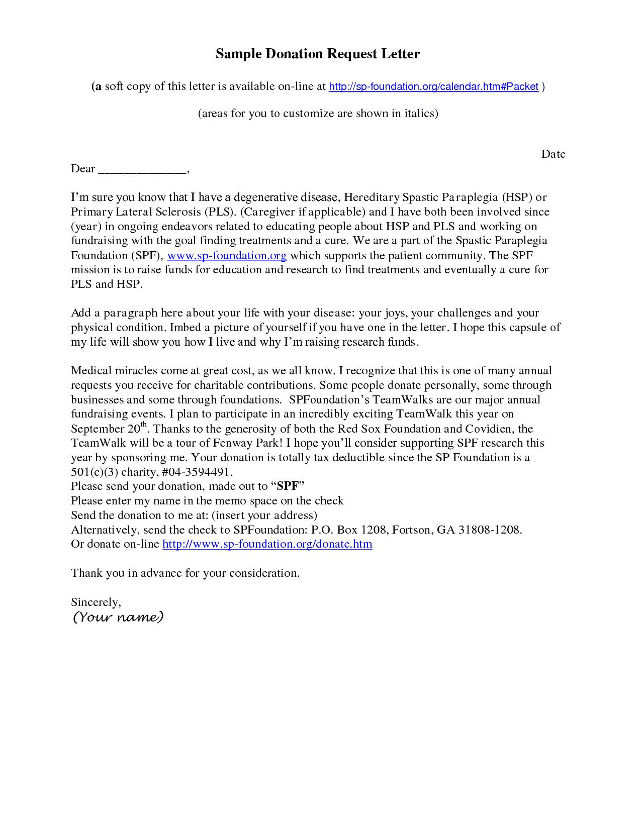 Charity Donation Letter Template Uk