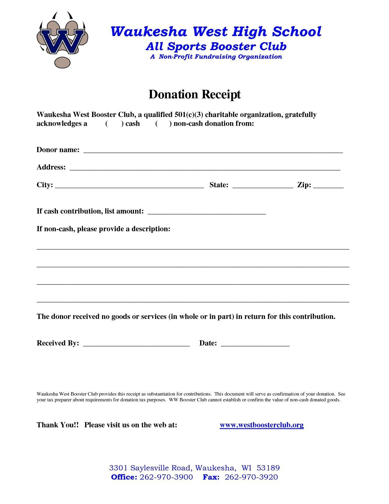 Charity Donation Letter Template