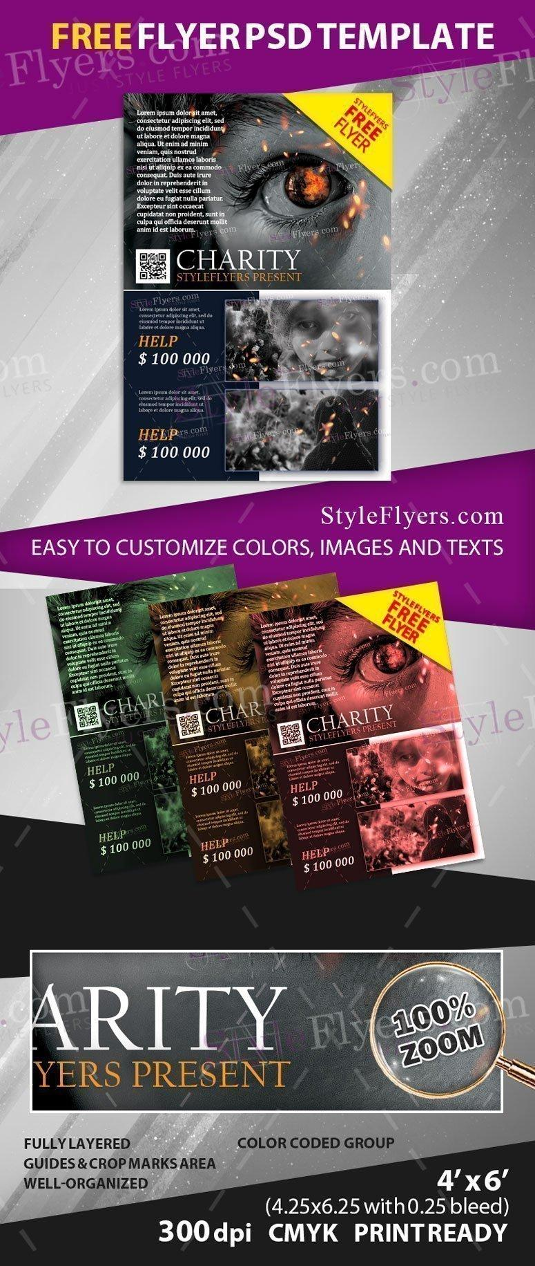 Charity Flyer Template Free