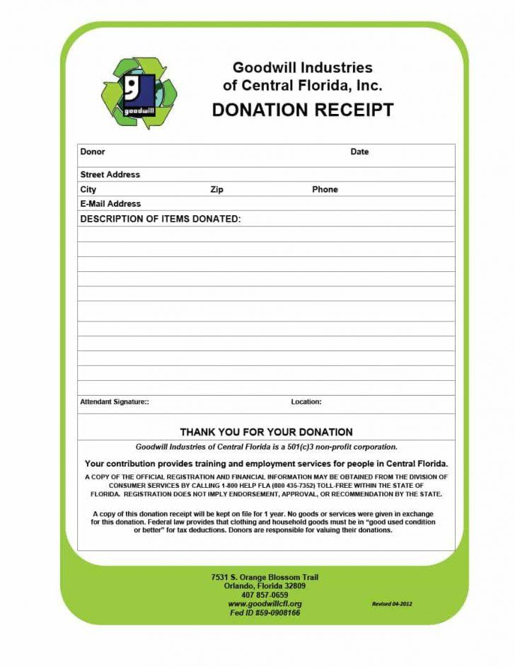 Charity Receipt Template Canada