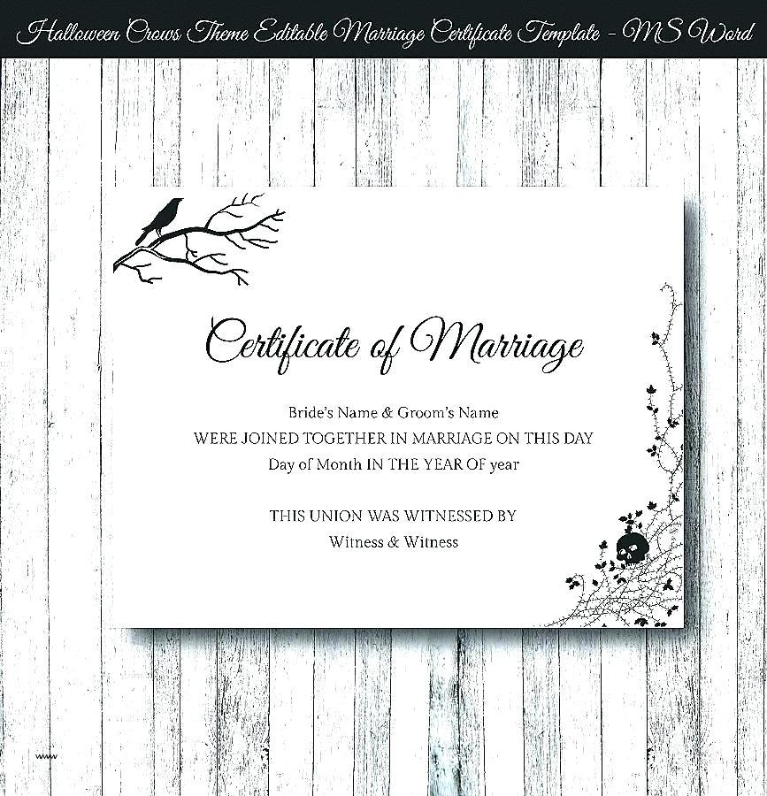 Chinese Marriage Certificate Translation Template