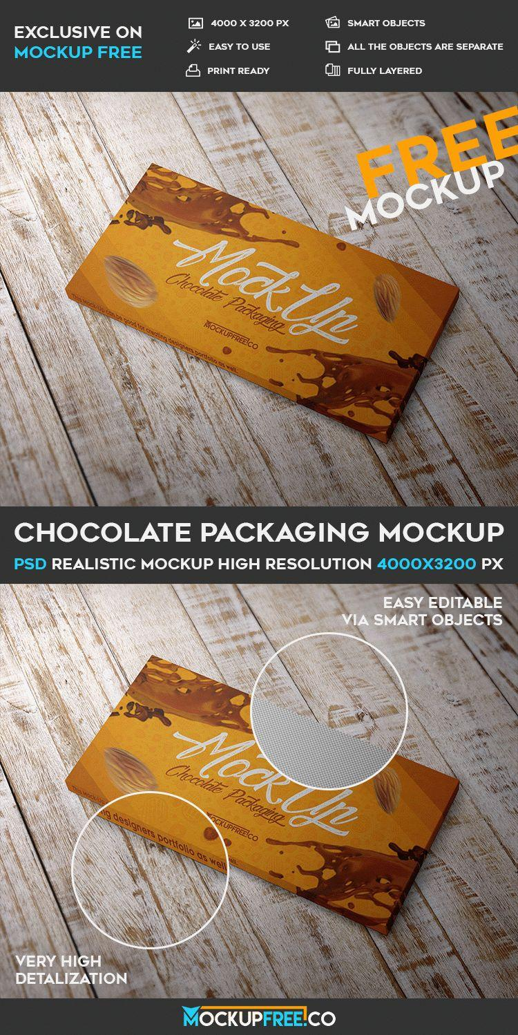 Chocolate Packaging Mockup Templates