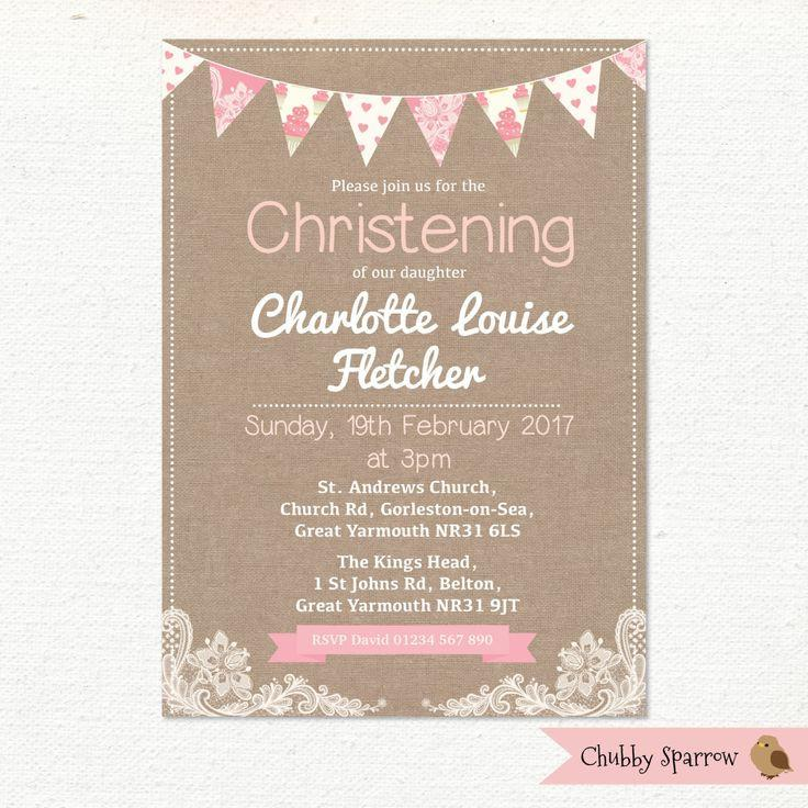 Christening Invite Template Free
