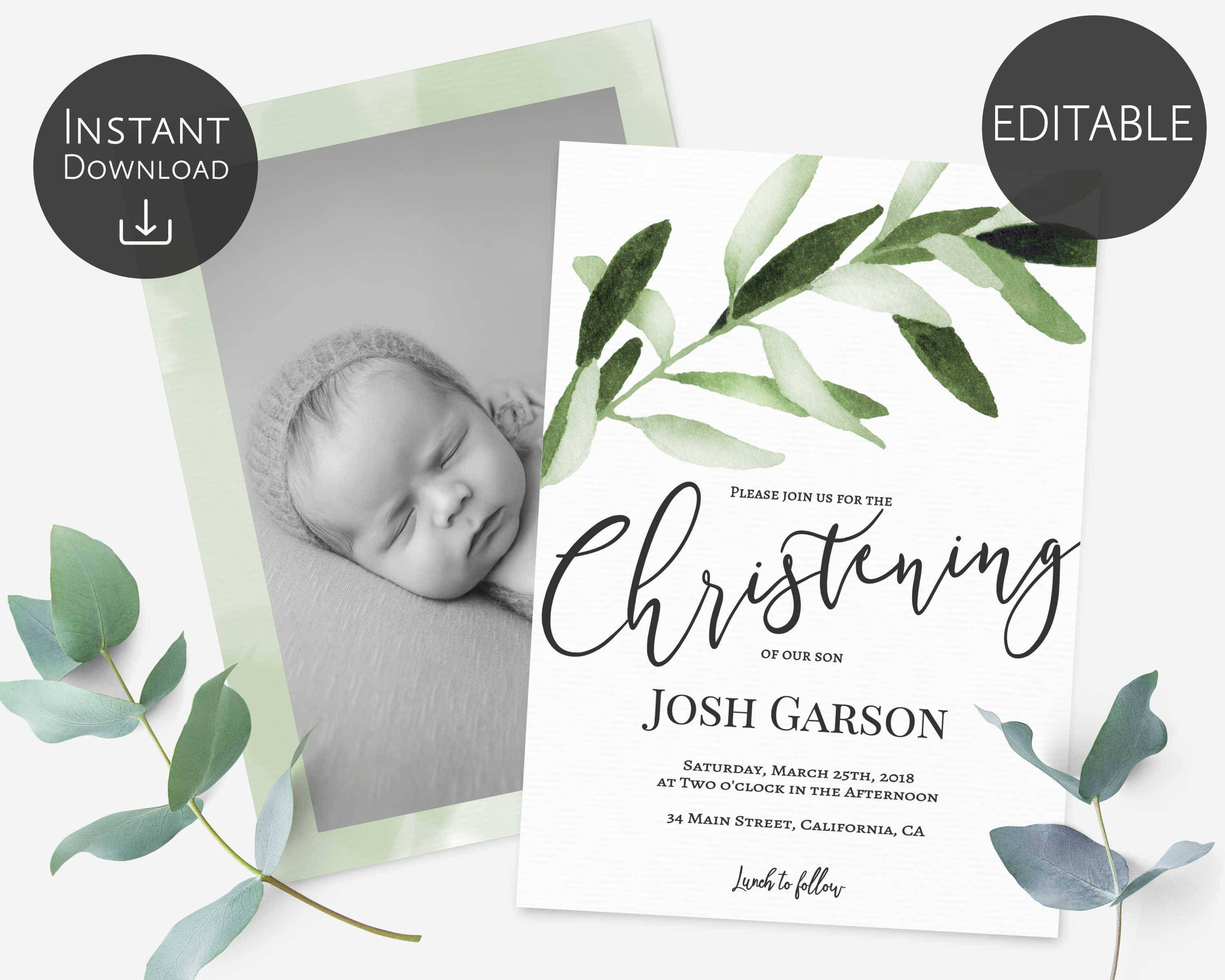 Christening Invite Template