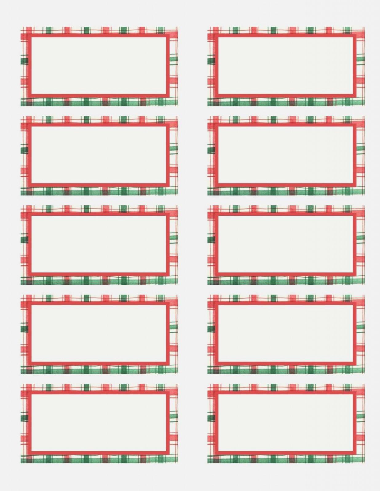 Christmas Address Label Templates