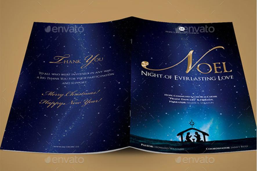 Christmas Program Booklet Template