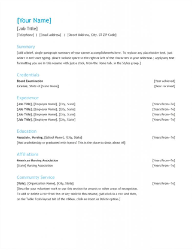 Chronological Resume Template Open Office