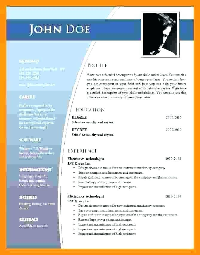 Chronological Resume Template Word 2007