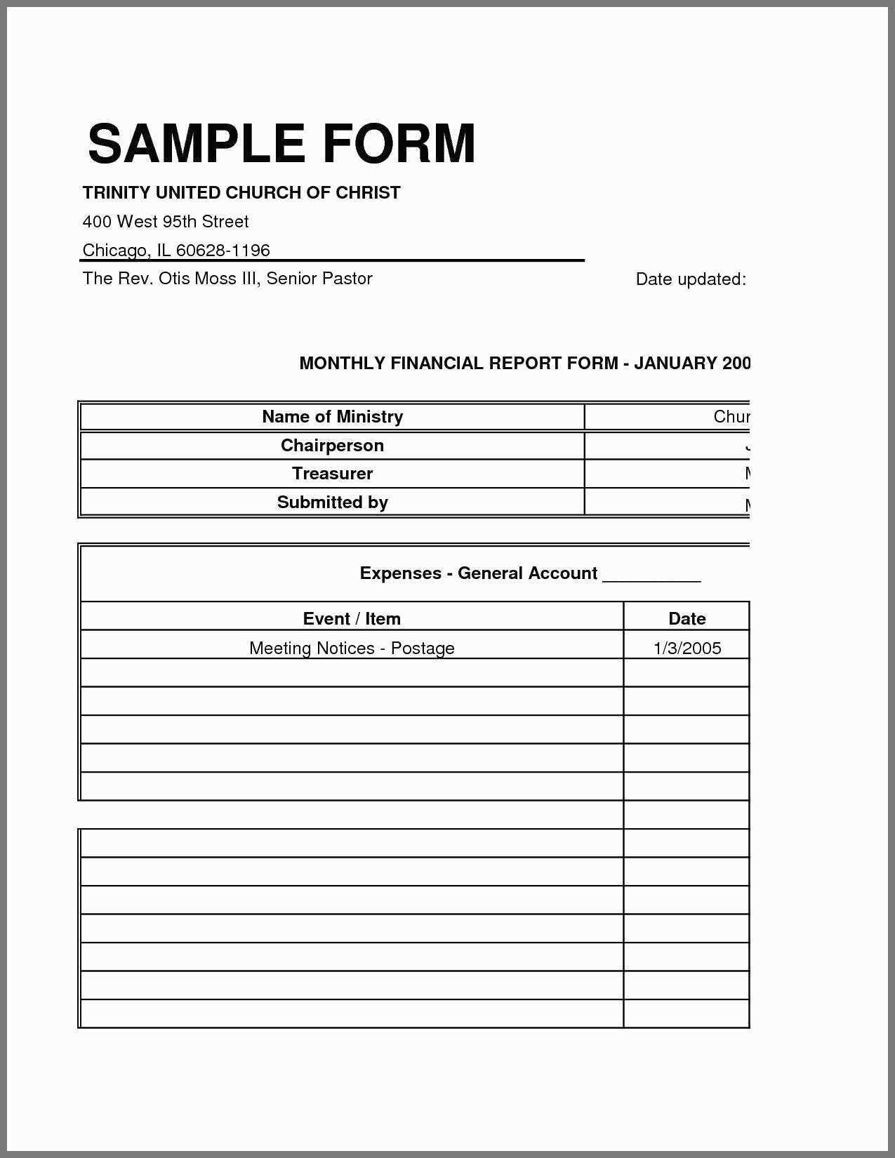 Church Income And Expenses Template