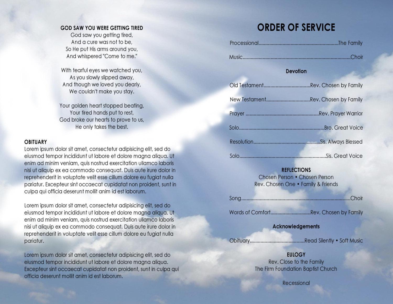 Church Program Template Word Free