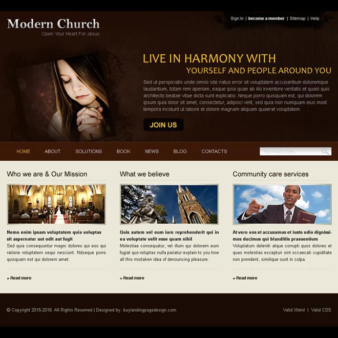 Church Website Templates Free
