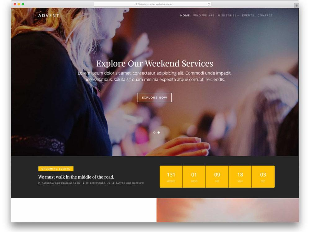 Church Websites Templates Free Downloads
