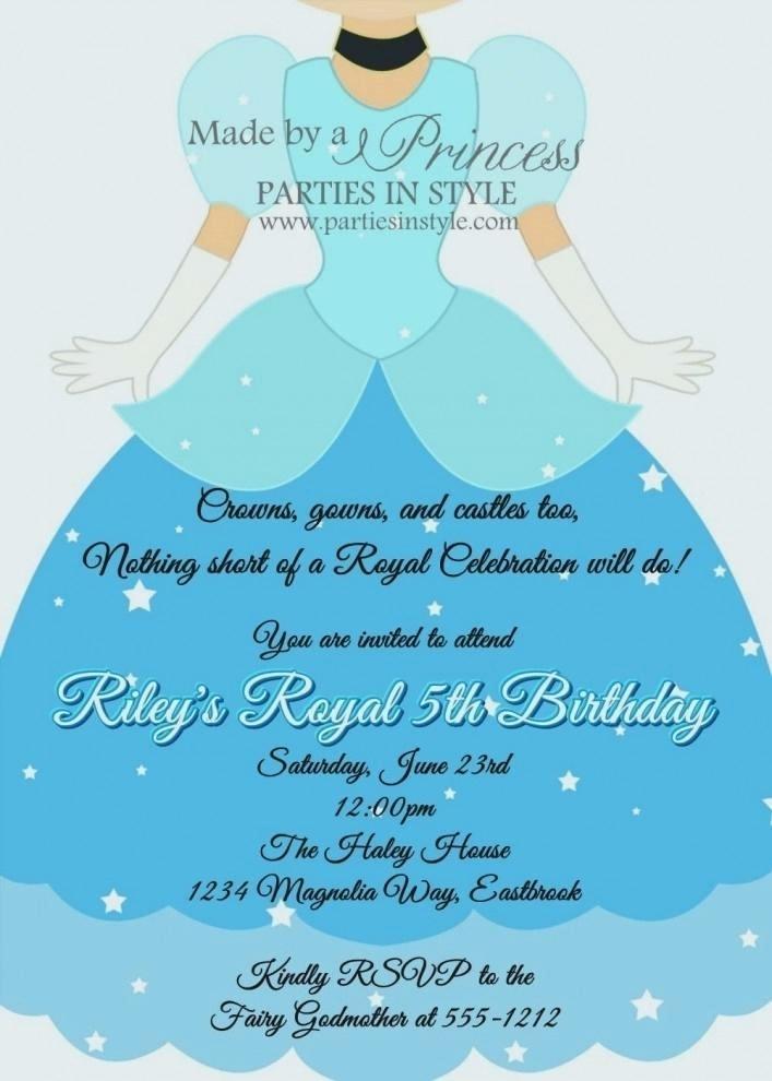 Cinderella Invitation Template Ks1