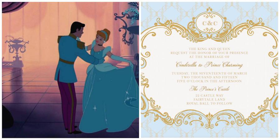 Cinderella Wedding Invitation Template