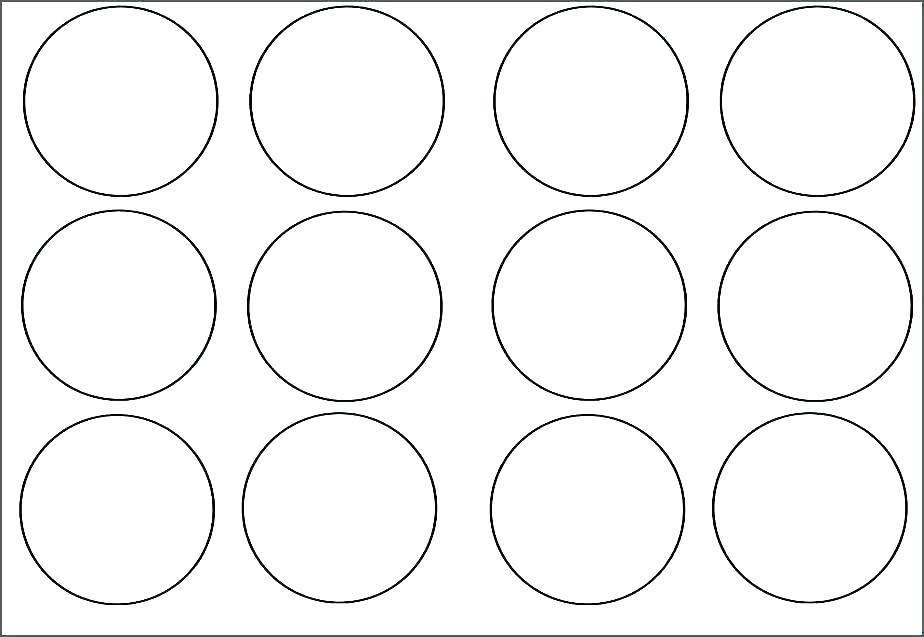 Circle Labels Template