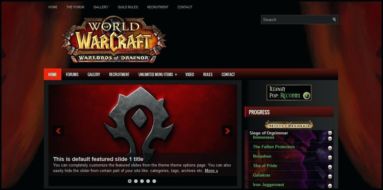 Clan Website Template Wordpress