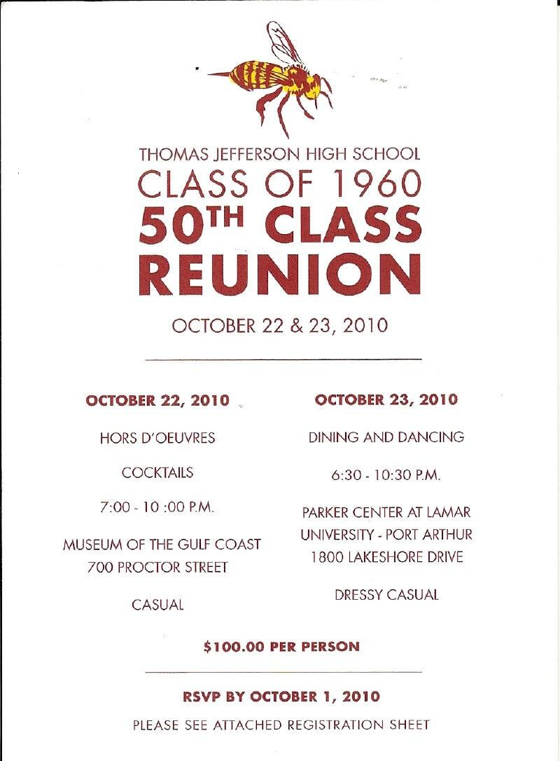 Class Reunion Invitation Flyer Template