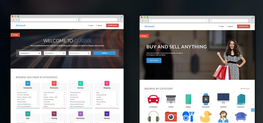Classified Ads Template Bootstrap