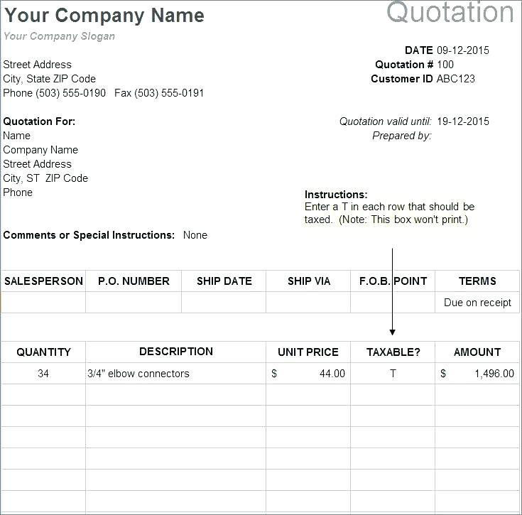 Cleaning Service Quote Template Free