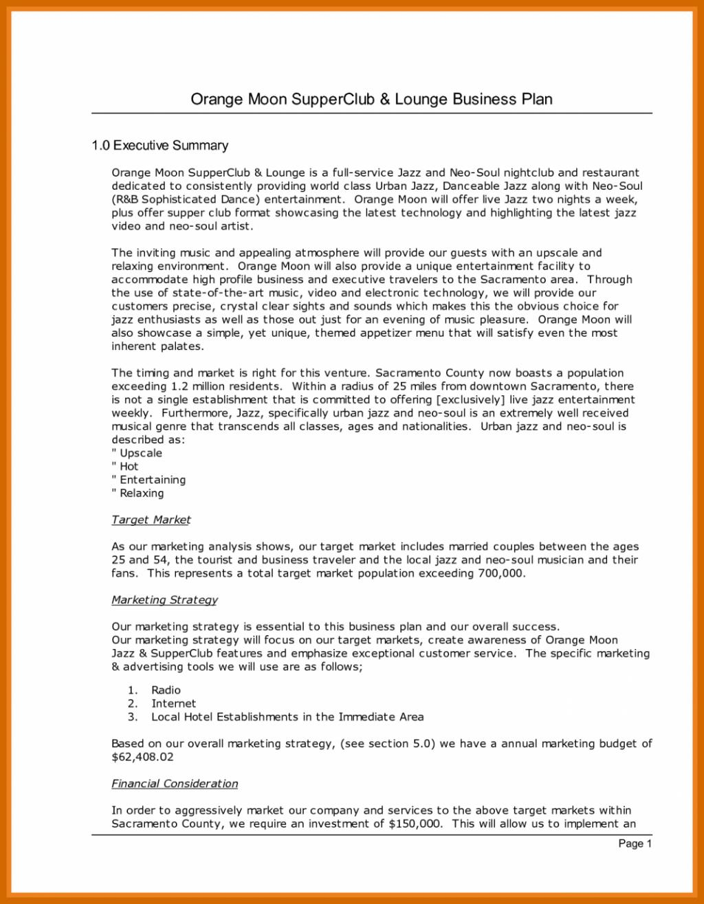 Clothing Line Business Plan Template Free
