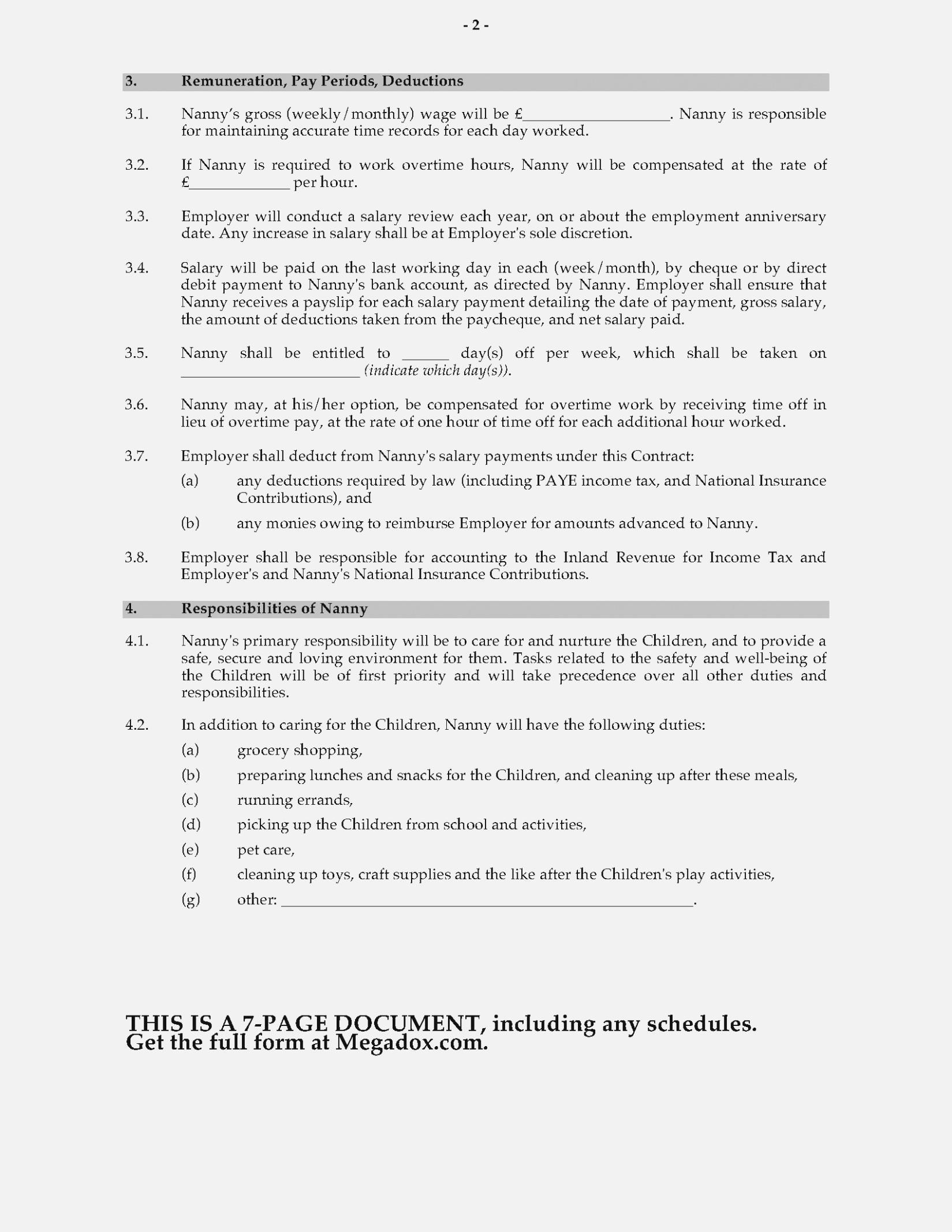 Cohabitation Agreement Template Free Uk