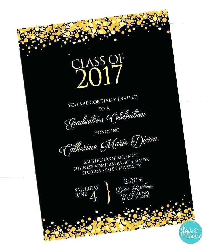 College Graduation Invitation Templates Free