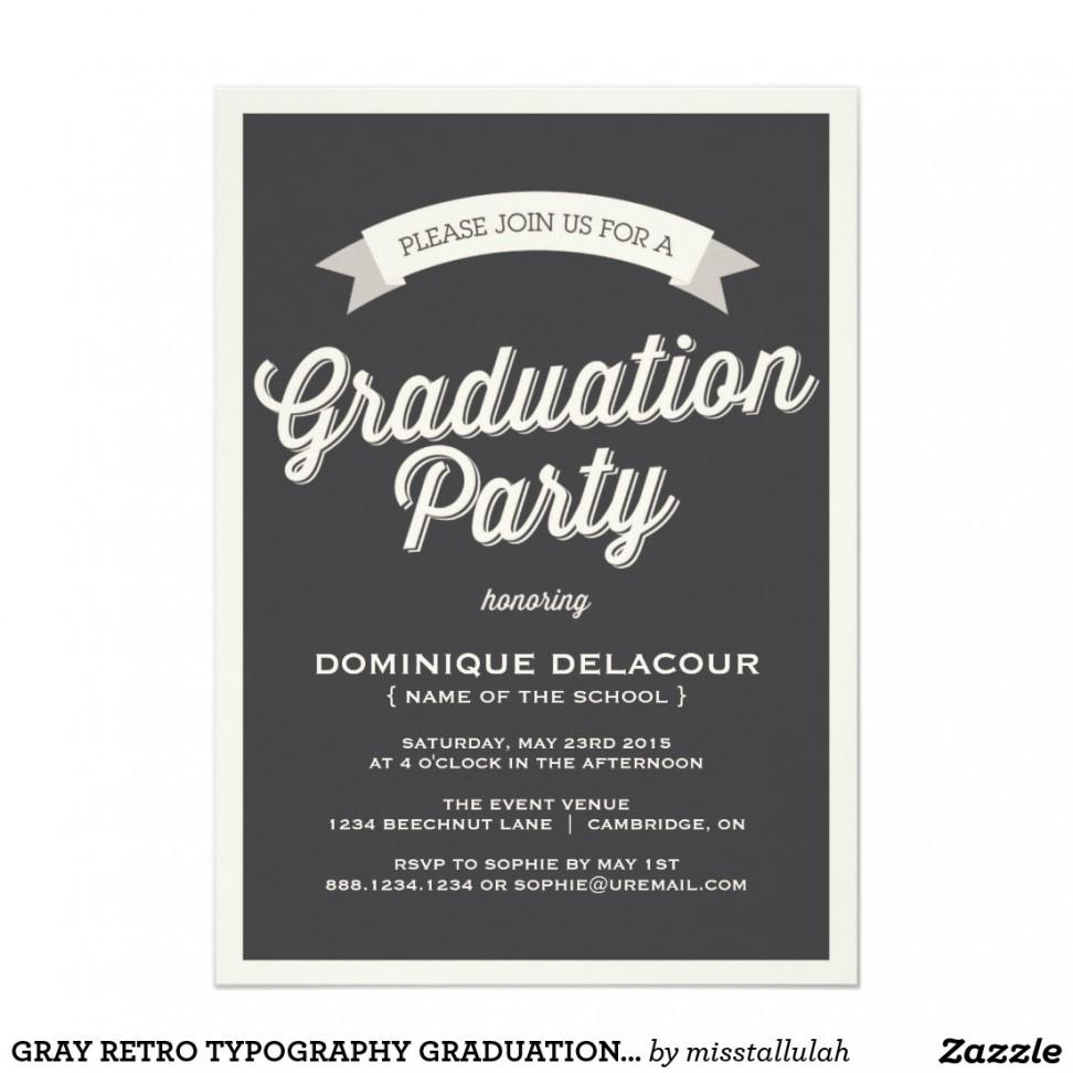 College Graduation Party Invitation Templates Free