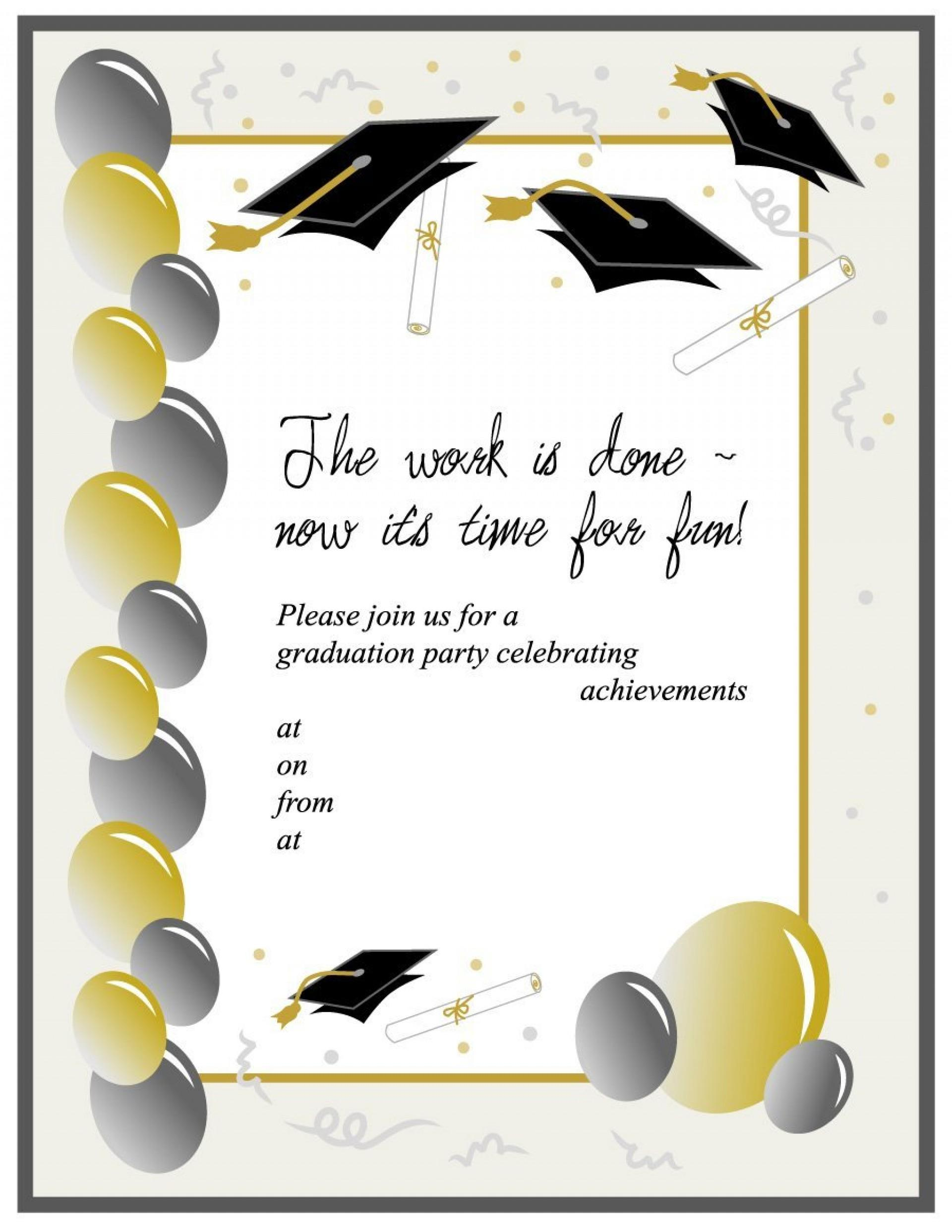 College Graduation Party Invitations Templates