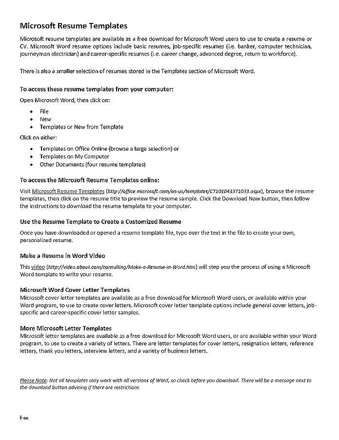 Free Combination Resume Template Word Resumes 1088