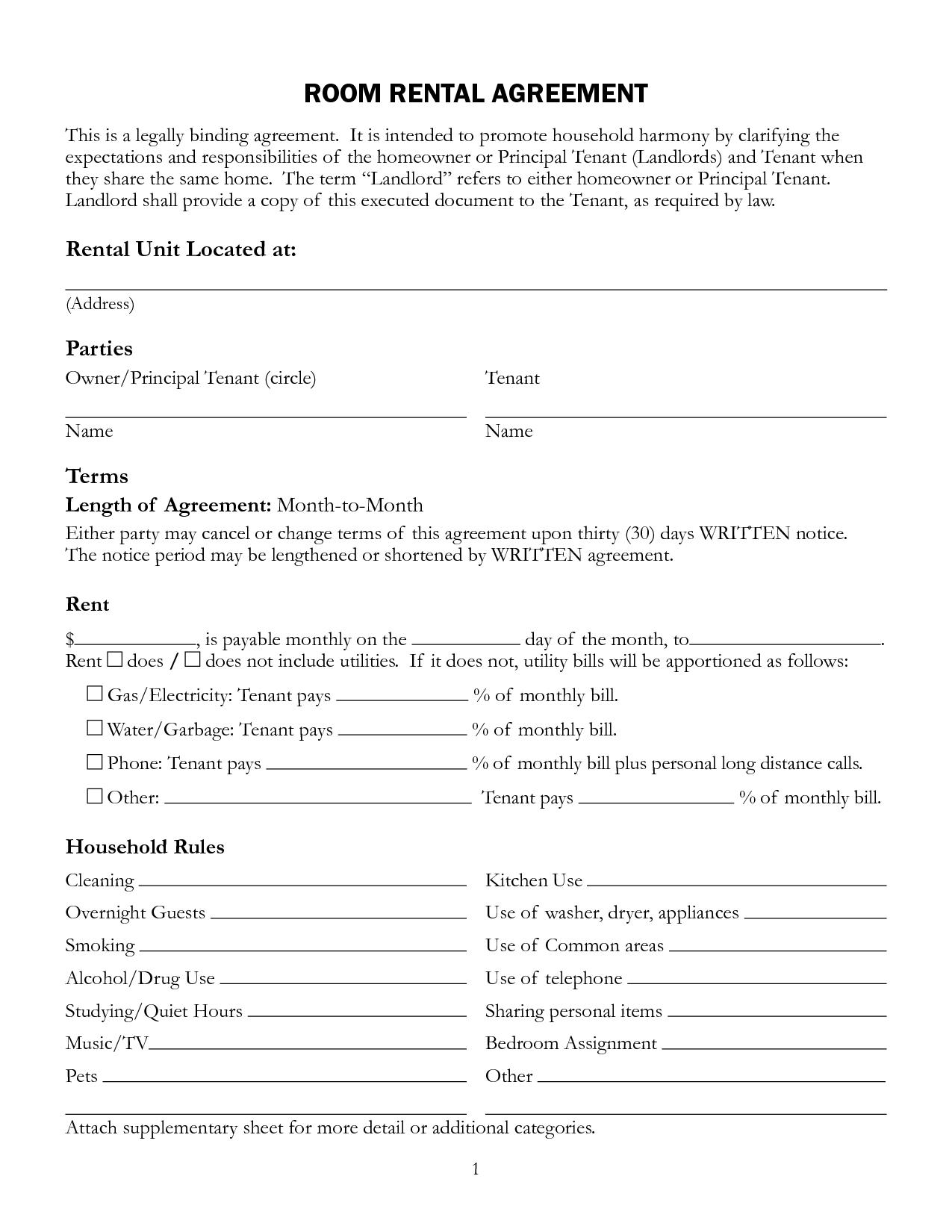 Commercial Lease Agreement Template Free Download South Africa