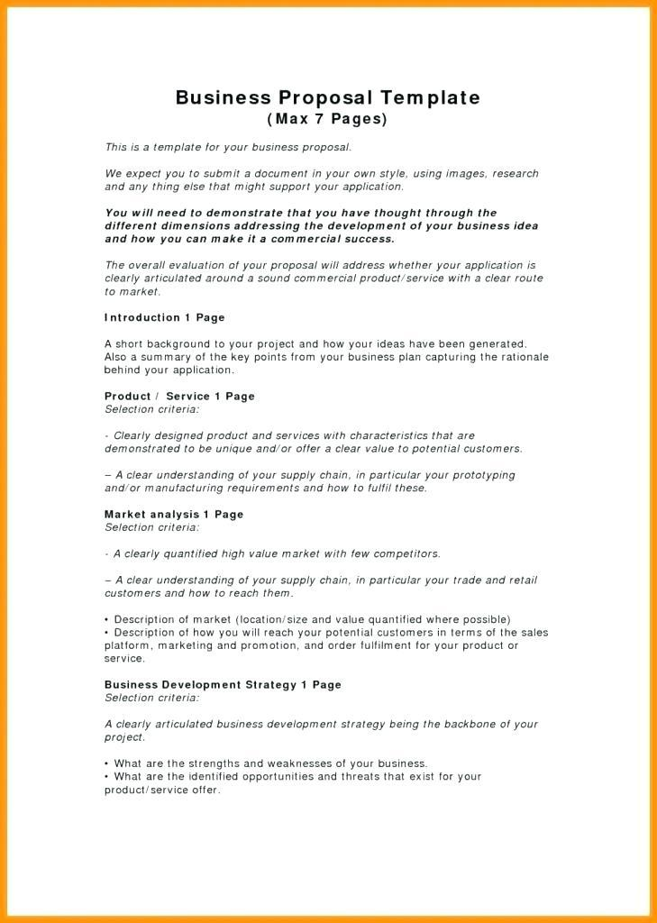 Commercial Lease Request For Proposal Template