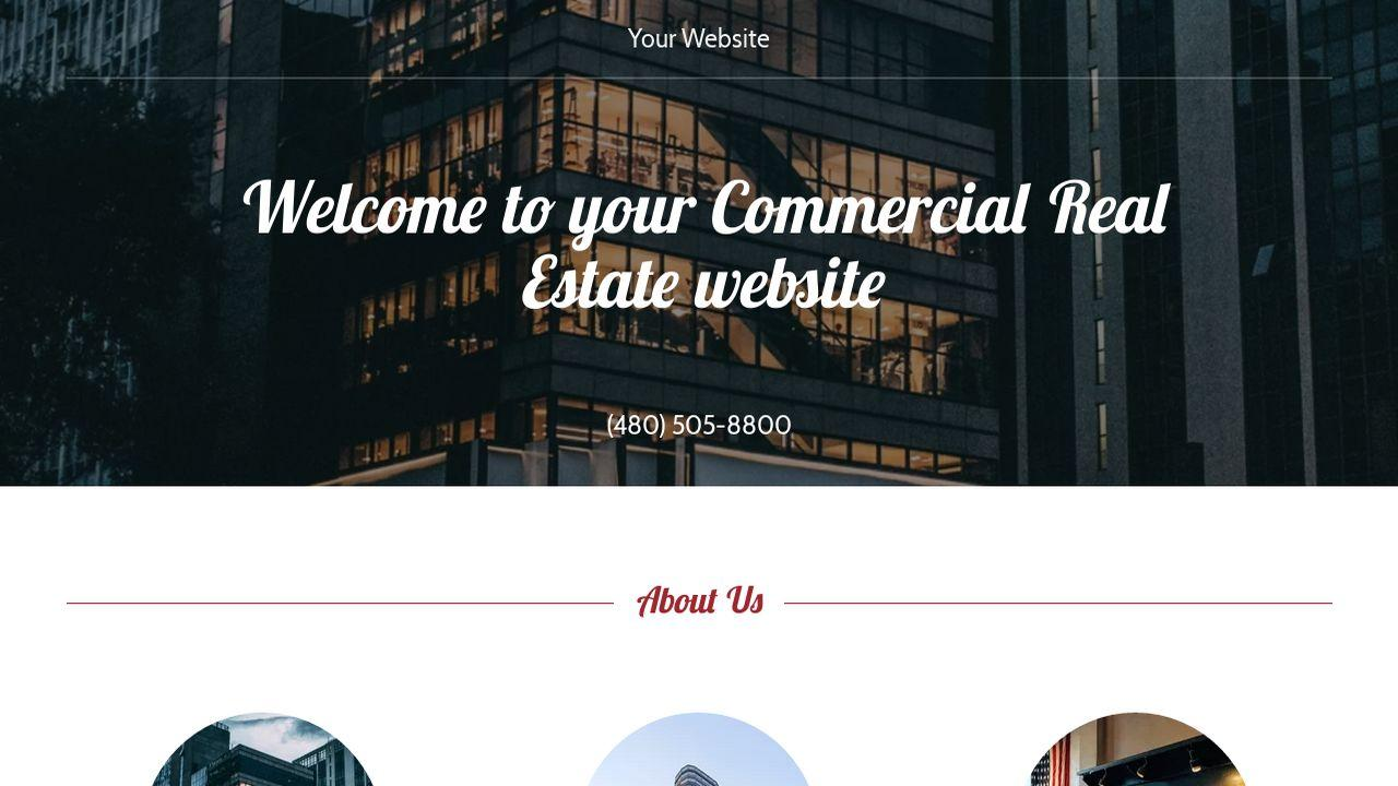 Commercial Real Estate Website Templates