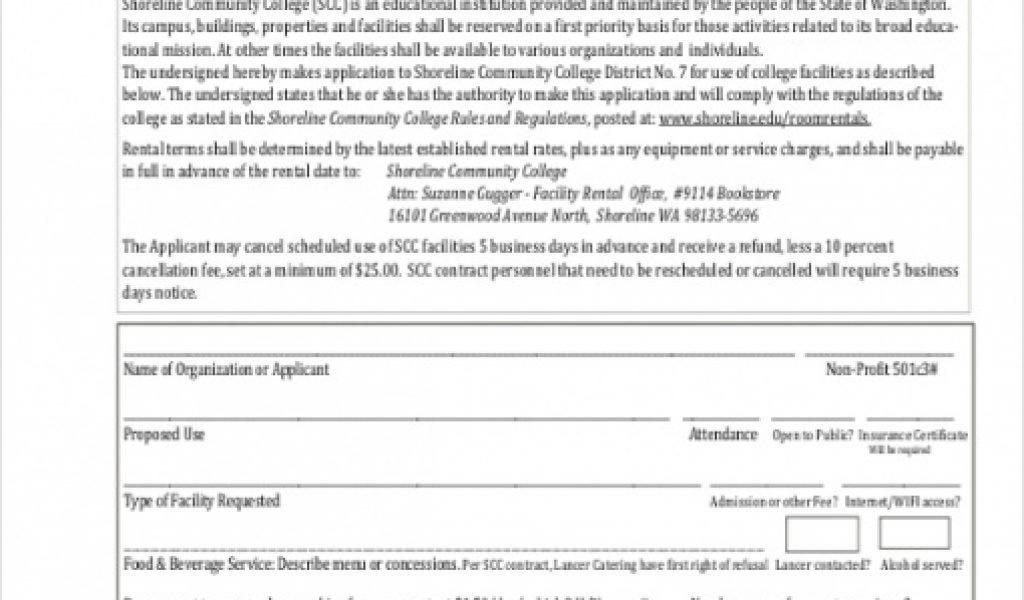 Community Hall Rental Agreement Template