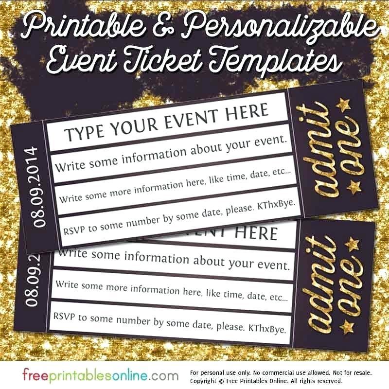 Concert Ticket Wedding Invitation Template Free