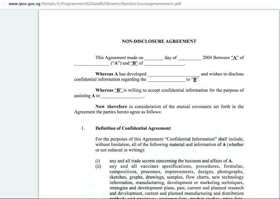 Confidential Disclosure Agreement Template Free