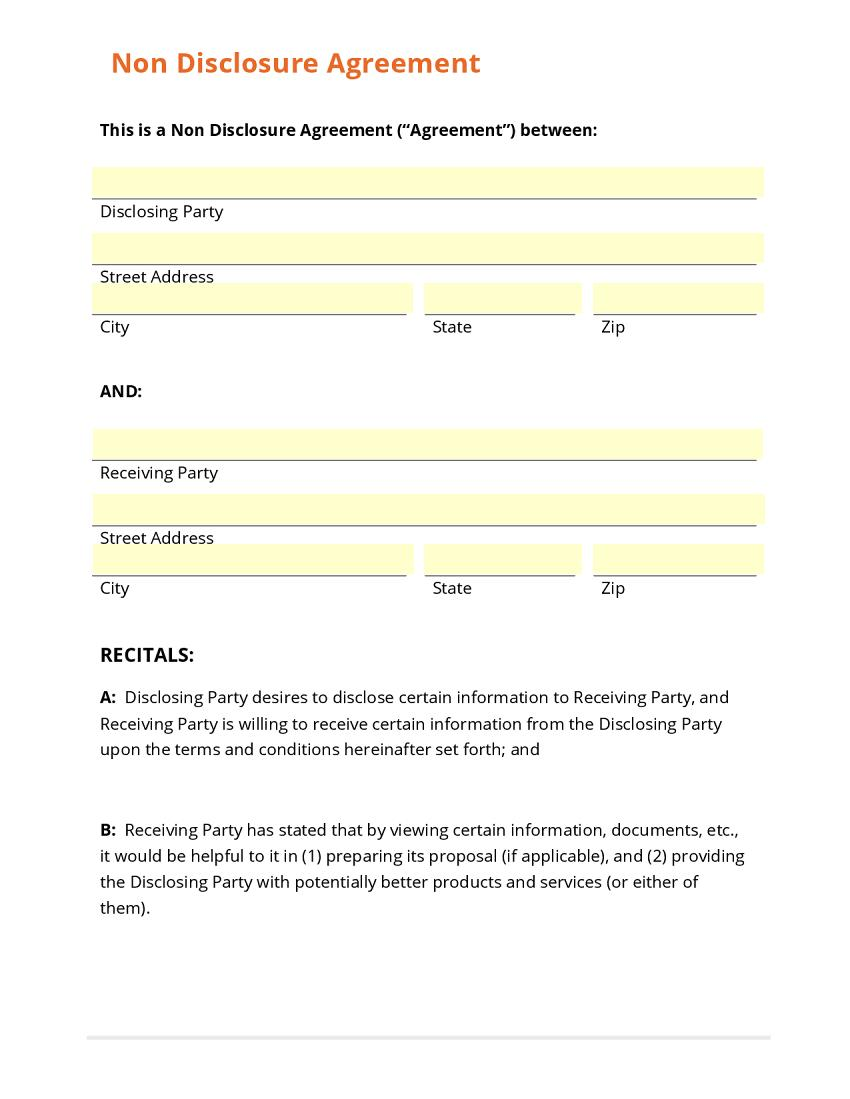 Confidentiality Agreement Template India