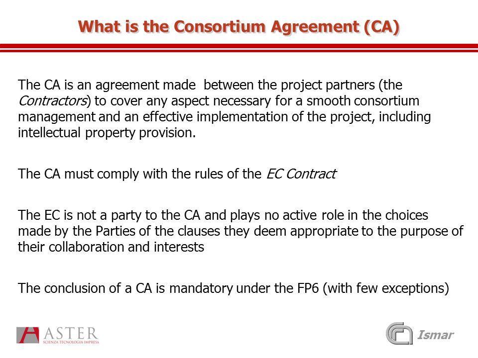 Consortium Agreement Template Construction
