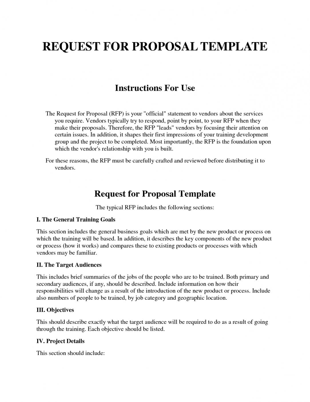 Construction Rfp Template