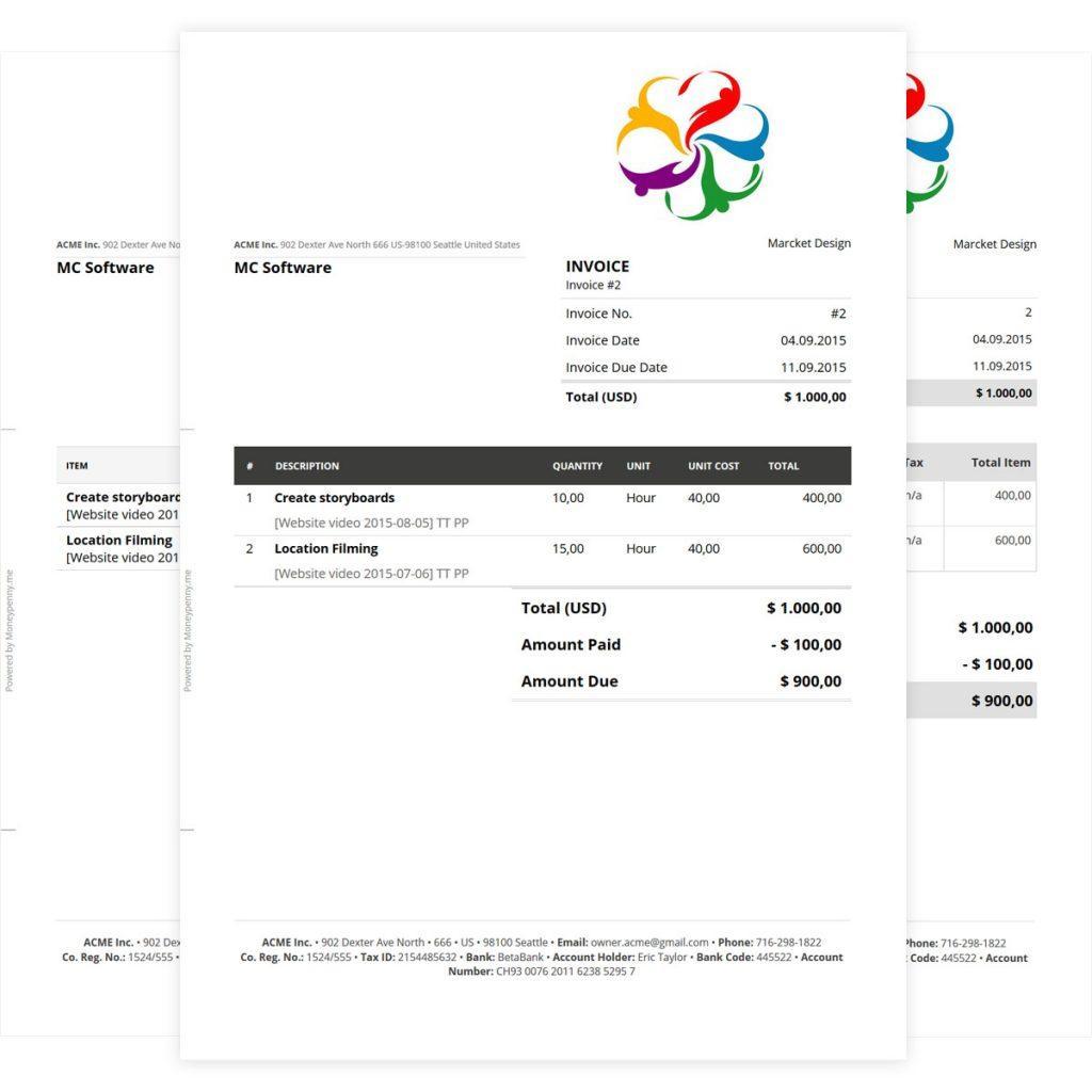 Consultant Billing Invoice Template Excel
