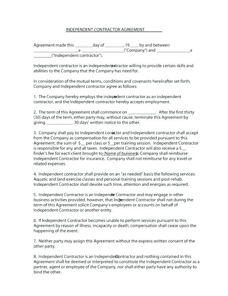 Consultant Contract Template Nz