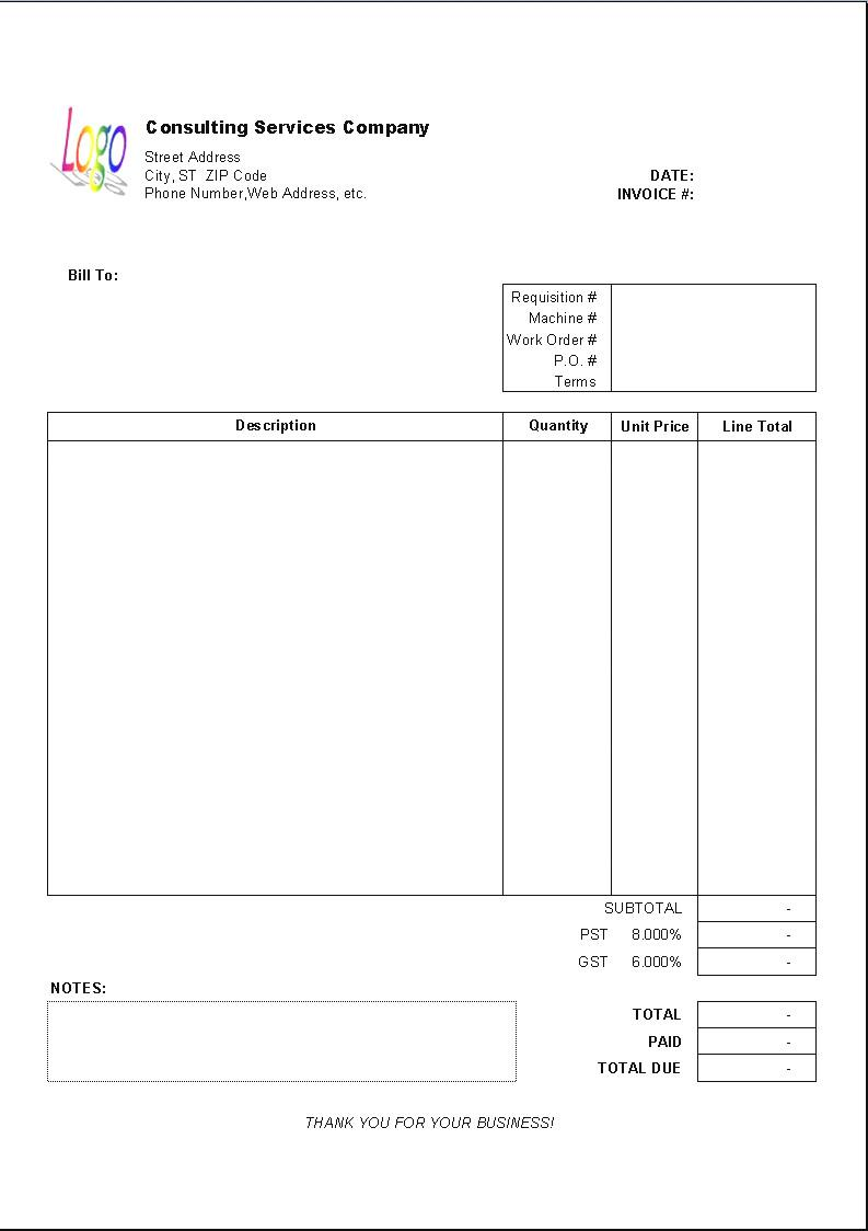 Consulting Invoice Sample Download