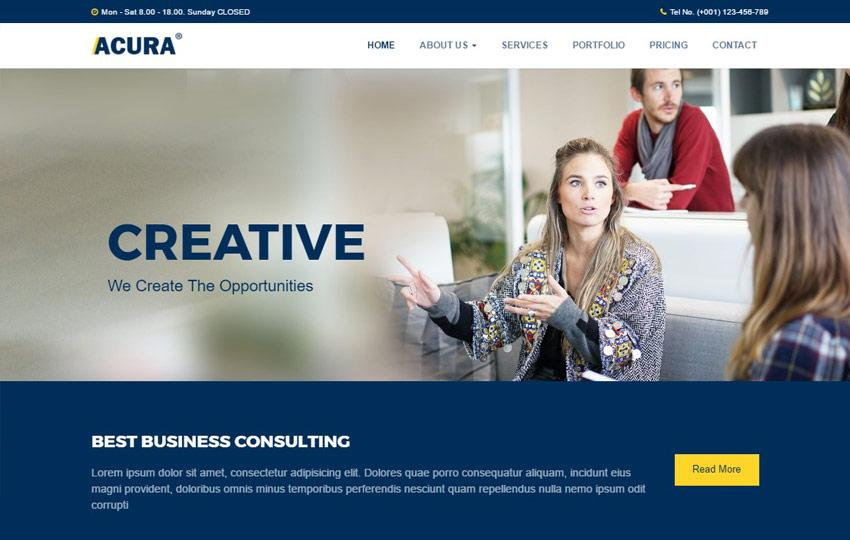 Consulting Websites Templates